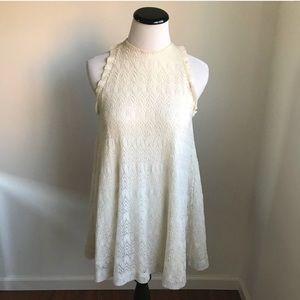 3.1 Phillip Lim Cream Lace Dress Ruffle Details